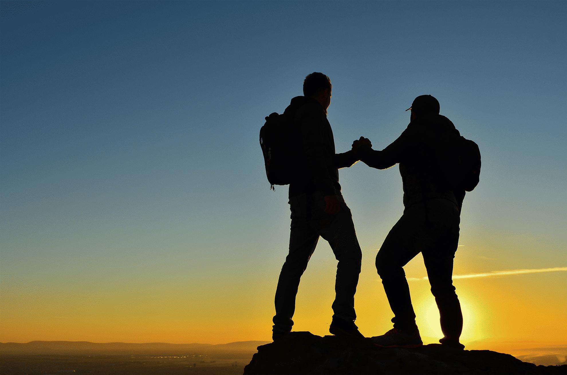elkaar helpen en gewoon doen